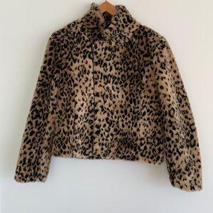 Vintage Havana Faux Fur Animal Print Jacket SzS